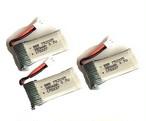 3個セット特価★基板付き改良版3.7V380mAh25C ★X100 & J1000 & Hubsan X4 H107L / h107C/H107D
