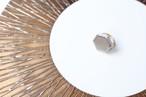 ホワイトゴールド使用!伝統文化品美濃焼多治見六角タイル指輪・リング(フリーサイズ) ゴールドリーズ006