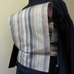 正絹名古屋帯 細い縞の博多帯