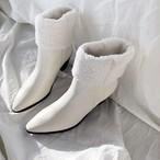 羊毛ウェスタンブーツ ウェスタンブーツ ブーツ 韓国ファッション