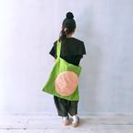 MONDEWORK 帆布トートバック #1 グリーン×ピンク●