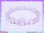 ローズクォーツ×水晶 ハート六芒星ブレスレット