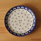 【再入荷】【新品】 ポーランド食器 ポーリッシュポタリー デザートプレート 22cm ガチョウ 鳥 黄色花柄 T134-ALC63 ボレスワヴィエツ陶器 Boleslawiec 中皿 ケーキ皿 アニマル