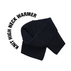 Knit high neck warmer [Black]