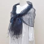 藍染め 三重織ショール