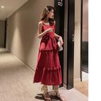 【dress】着痩せ気質よいスウィートキャミソールノースリーブワンピース
