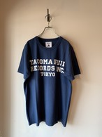 TACOMA FUJI RECORDS, INC. Tee designed by Shuntaro Watanabe NAVY