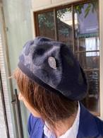 【ソフトバンクホークス日本一おめでとう!送料無料キャンペーン11/26-11/30】chikyu ちきゅう UZUMAKI DOTベレー帽      黒