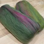 OGY17)手紡ぎ用ブレンド羊毛 抹茶小豆