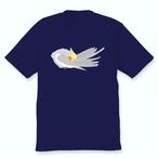 羽づくろうオカメインコTシャツ(ノーマル男の子)ネイビー