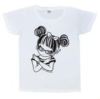 """ミカヅキ/""""さわるな女子"""" Tシャツ・ホワイト [ T-007:WH ]"""
