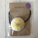 花刺繍ヘアゴム