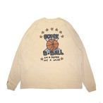 MARK GONZALES L/S Basketball T-Shirts BEIGE