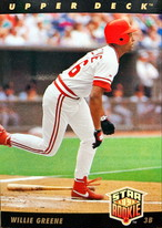 MLBカード 93UPPERDECK Willie Greene STAR ROOKIE  #004 REDS