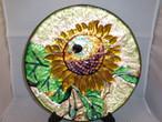 七宝向日葵飾り皿 cloisonne enamel plate(sunflower)