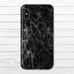 #000-033 iPhoneケース スマホケース iPhoneXS 大理石柄 セール かわいい Xperia iPhone5/6/6s/7/8 おしゃれ マーブル柄 GALAXY ARROWS AQUOS タイトル:marble black