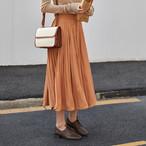【bottoms】甘い色ウエスト絞りプリーツスカート25712592