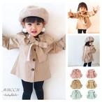送料無料!【予約販売】ビッグリボン フリル襟 コート ビックリボン 80cm〜100cm