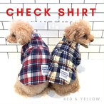 Autumn check shirt  【 red & yellow】