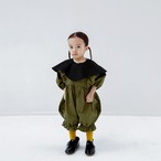 【予約】folk made pierrot combinaison (khaki× black) 90/100 F20AW-009
