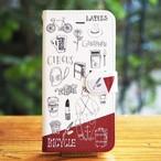【iPhone】CIRCUS & Bordeaux 手帳型スマホケース