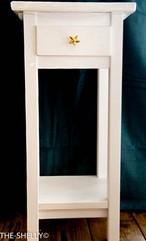 ホワイト・ドロワーテーブルHigh 77cmタイプ