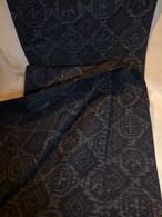 藍紬単衣着物 silk and pongee Kimono