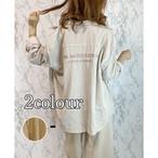 【即納】バック刺繍コーデュロイオーバーシャツ