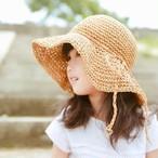 ナチュラル麦わら帽子【A015】