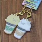 【カップネコ】キュート・ニコイチキーホルダー2個セット【猫 キュート crx-32254】