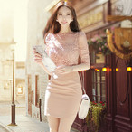 【dress】Stylish elegant lace fashion date dress