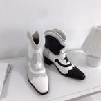 スターウェスタンブーツ ウェスタンブーツ チェルシーブーツ ブーツ 韓国ファッション
