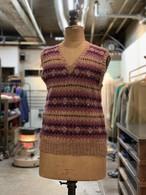 1940-50's british fair isle knit vest