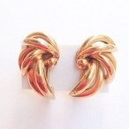 gold design earring[e-222]