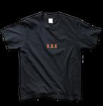 """B.O.K T-shirt """"Simple Ver.""""<navy&orange>"""