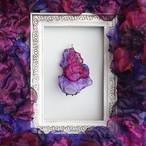『甘美』魅惑の炎 no,6|ピンクと紫のゆれるアートピアス