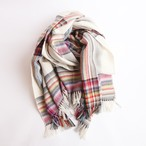THE INOUE BROTHERS/Multi Coloured Scarf/White