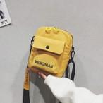 【小物】カジュアルズックアルファベットプリントショルダーバッグ
