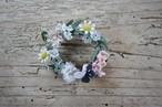 きゅうり草の布花ブローチ