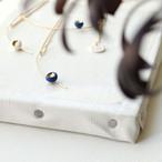 月と星 陶器パーツのネックレス *vesna garic(ヴェズナ ギャリック)