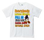 No.0037  Fill in Tシャツ ミュージシャン