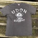 かせきさいだぁ UDON ELEMENT Tシャツ 炭xライトグレー