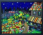 油彩画*夜のさんぽみち* 2015