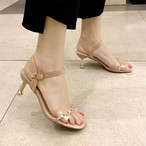 【shoes】スクエアトゥフェアリー注目の新作ラインストーンサンダル
