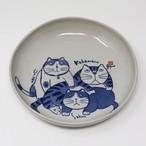 猫皿(やんちゃ猫大皿)3匹