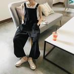 【送料無料】 ゆるだぼカジュアル♡ オーバーサイズ サロペット オーバーオール メンズライク