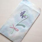 刺繍花のぽち袋(2枚入り) スミレ