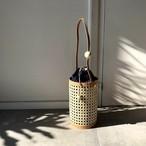 【再販】竹細工とヌメ革のカゴポシェット・tricot tutu bag light 04-A