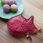 手染めのたい焼き(ピンク/ラベンナ―色のファスナー)