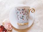 ヘレンド ブルー系の小薔薇のカップ 在庫1